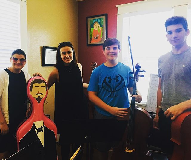 Teen String Camp. George and his groupies 🎻🎻