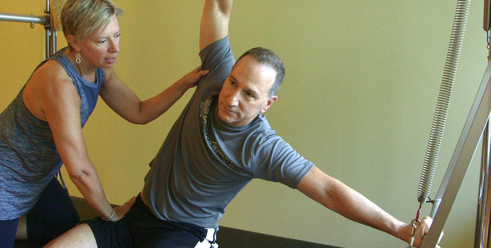 BB and Alan during private pilates class
