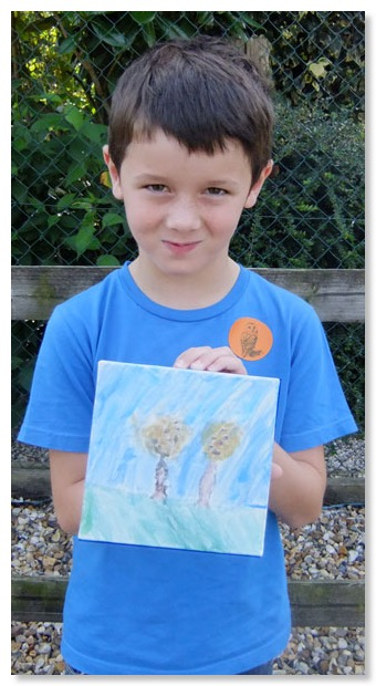 Talented artist Patrick raised funds for the  Sanctuary by selling his paintings and drawings.