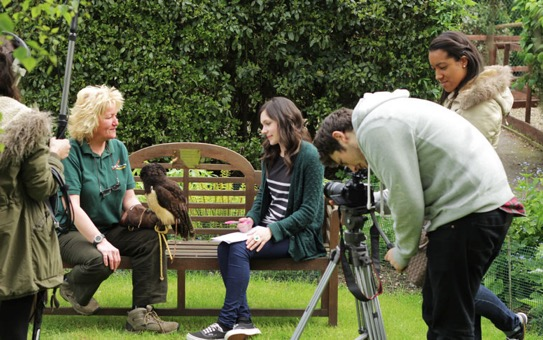 Filming gets under way with Maz and a camera-shy Cecil being interviewed by Georgina