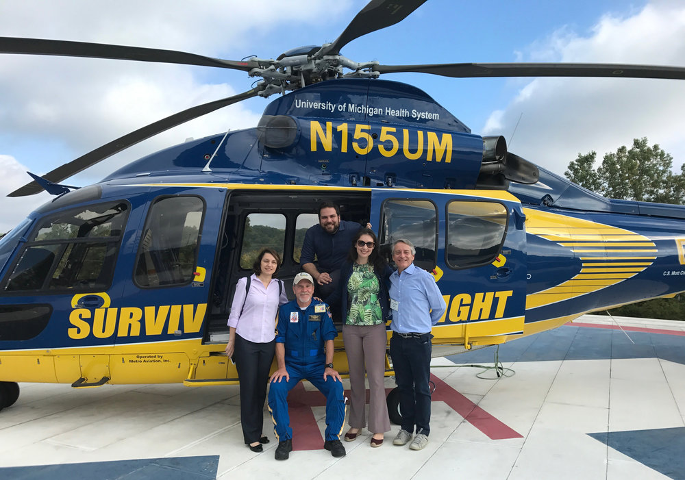 The group toured the Emergency Critical Care Center (EC3) and met members of the Survival Flight crew.
