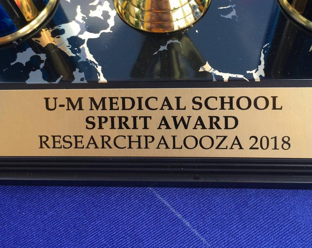 2018 Researchpalooza Spirit Award