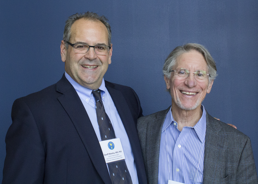 Dr. Geoff Manley (left) with Dr. William Barsan (right)