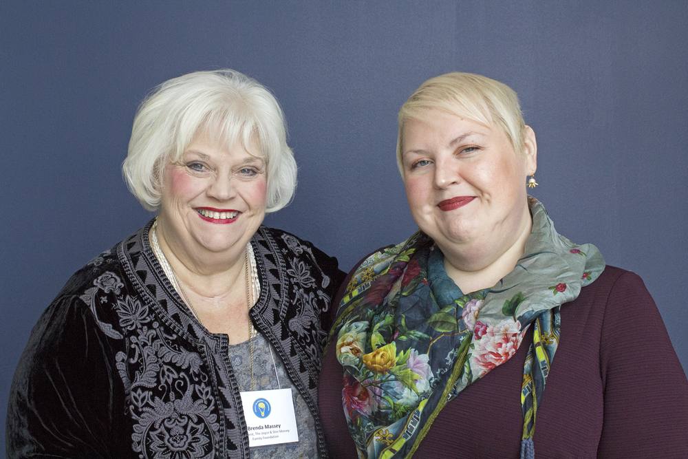 Joyce and Don Massey Family Foundation President Brenda Massey (left) with daughter Brittany Blase (right)