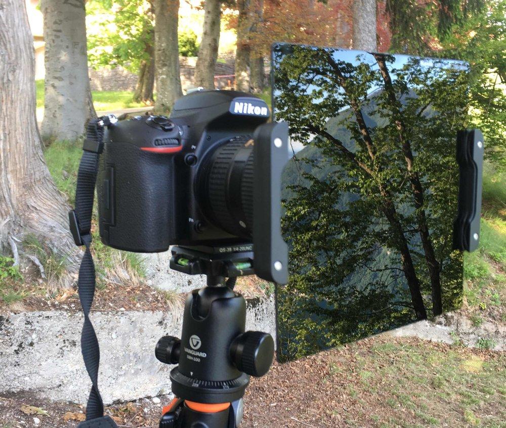 Il kit di filtri Haida montato sul Nikkor 14-24.