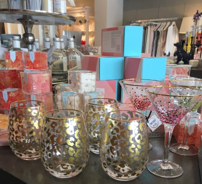 The leopard print wine glasses and Sugarfina candies are very popular among the younger customers                                                                        Photo credit: Haley Ivy