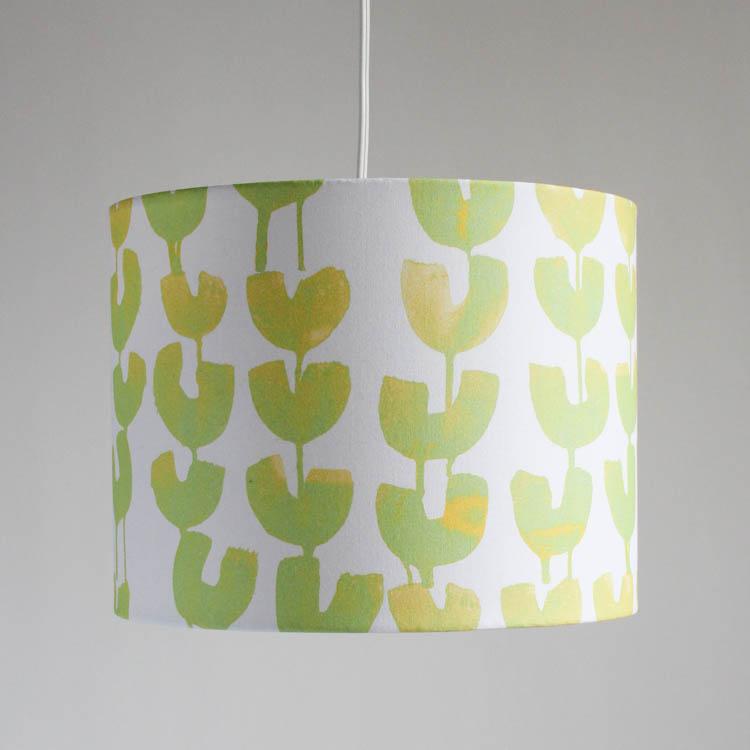 lamp shade in tulips winter sun jenny san martin design