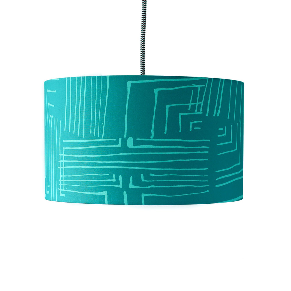 12d X 7h Euro Fitter Lamp Shade In Shattered | Pounce