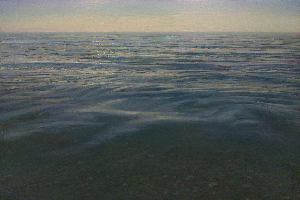 "THALASSA   24"" x 36"" x 2.5""  oil on canvas"