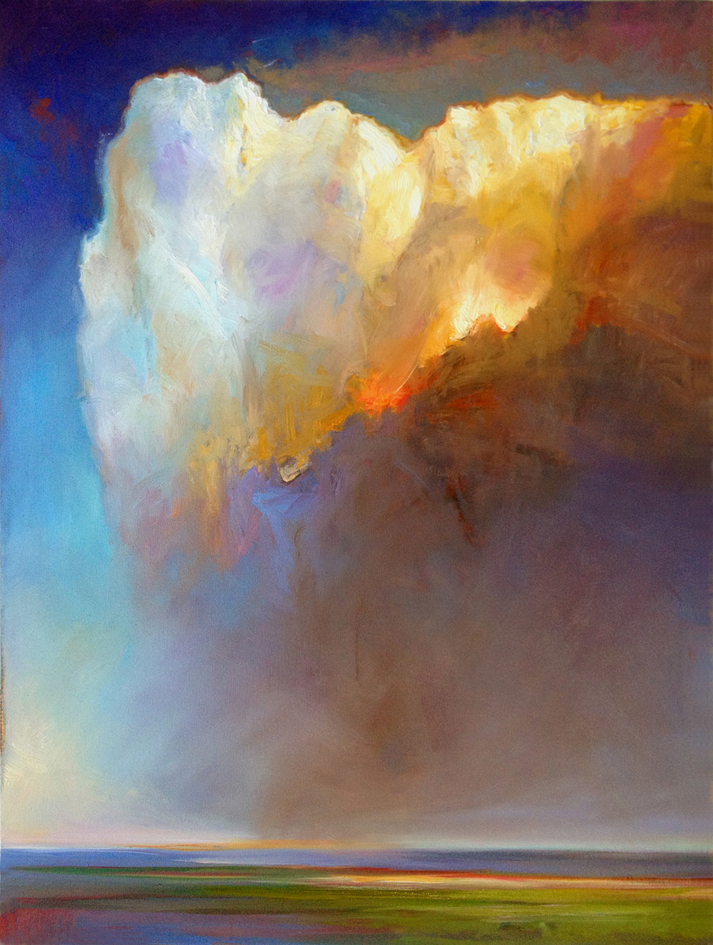 "CUMULUS, NO. 1   40"" x 30"" oil on canvas"