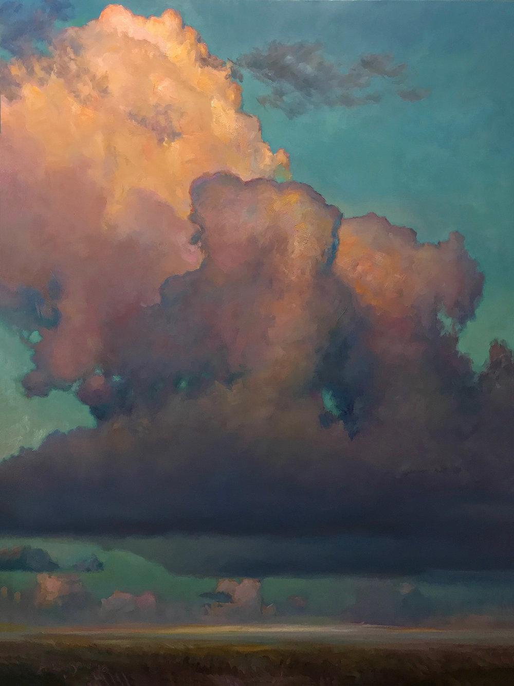 """BODHISATTVA  48"""" x 36""""  oil on canvas"""