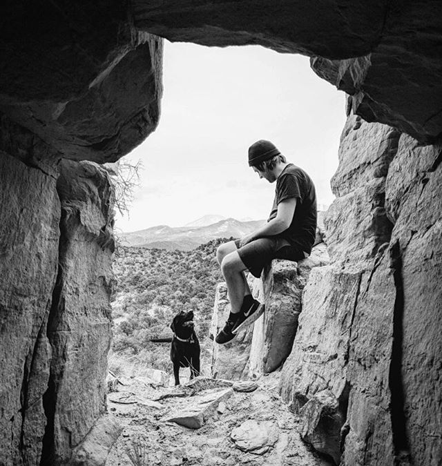SLC rock show coming up May 22nd. Although irrelevant, this is a pic of me bonding with my dog Sophie taken from inside a cave by my good friend @yayyne. Find the link where you find most links. #didyoucheckyourbutt #punkrock #sophieso