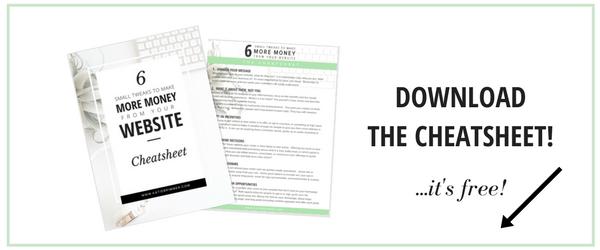 Download the 6 Small Tweaks Cheetsheet