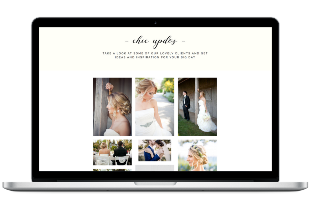Gallery Page Design Wedding Hairstylist Website.png