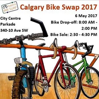 Looking for a used bike now that it's warm out? Head down to the #calgarybikeswap today between 2:30pm and 4:30pm.