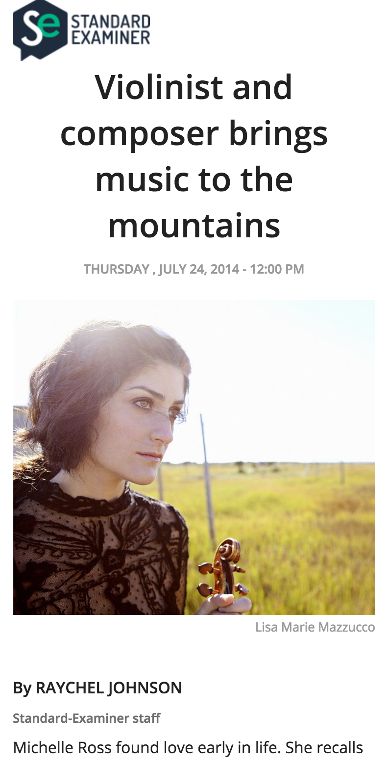 READ THE COMPLETE ARTICLE:   http://www.standard.net/Entertainment/2014/07/24/Violinist-and-composer-visits-vistas-of-Powder-Mountain-for-concert.html