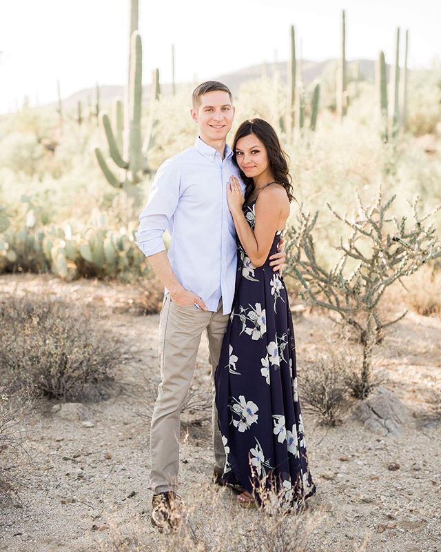Lovebirds in the middle of the desert is my favorite ending to a day! 💕