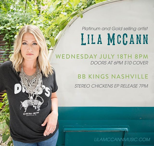 If you're in Nashville July 18th come hang with me at B.B. KINGS Blues club in Nashville. Americana trio The Stereo Chickens will be celebrating their EP Release at 7pm.