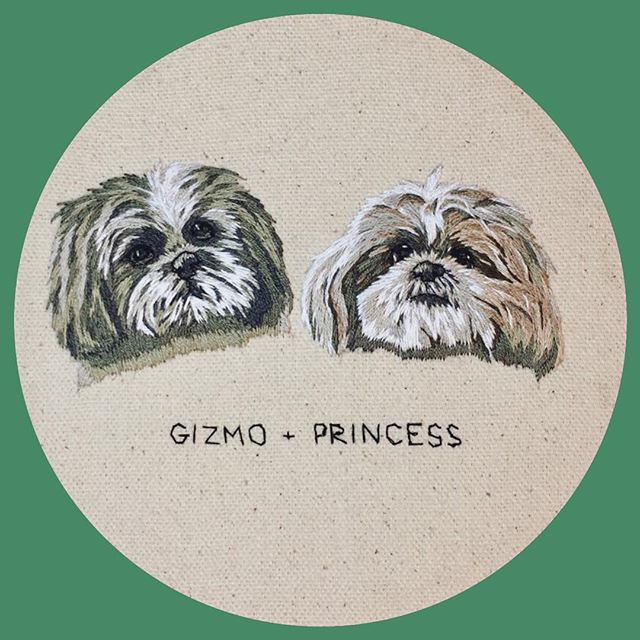 That's a wrap on these two cuties. I think Shih Tzu's are slowly becoming a favourite of mine to stitch... there are so many sneaky colours in there!
