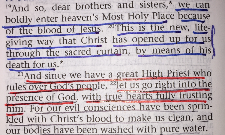 Hebrews 10:19-22
