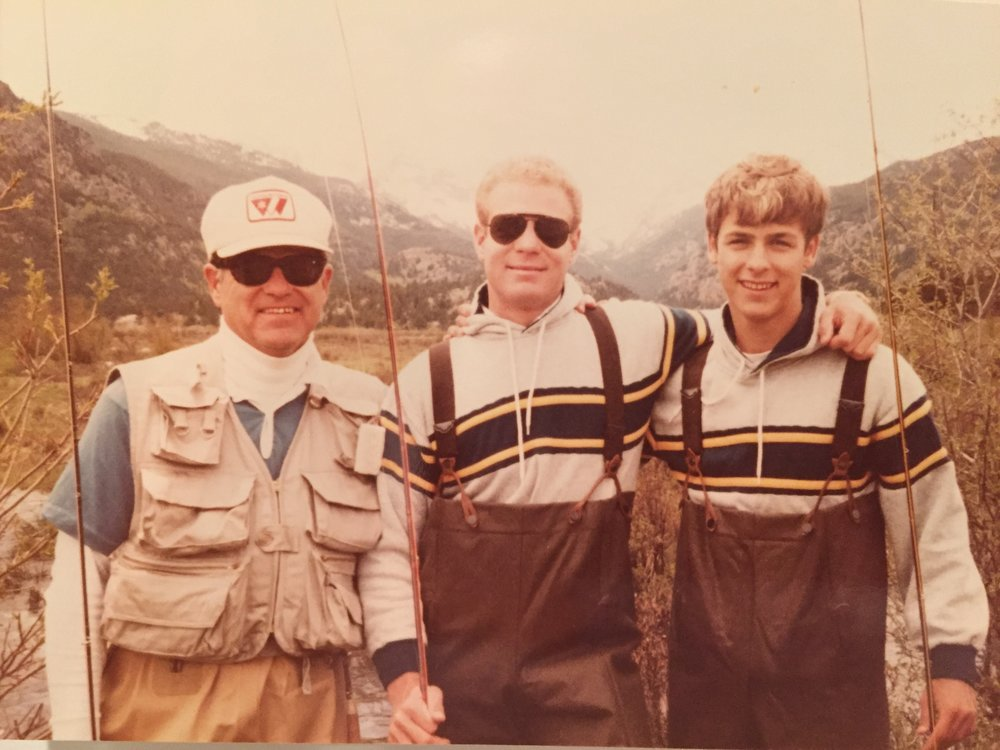 Dad, Paul & me fly fishing in the Tetons. We had a wonderful childhood, and were deeply loved by our folks, for which I could never say thanks enough. And no little brother has a better big brother than me!