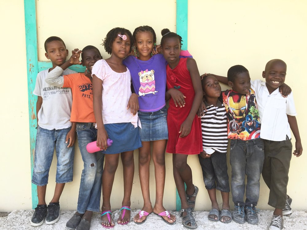 Kids at Green Church Number 4. Our hope is to start a small school this fall for these kids.