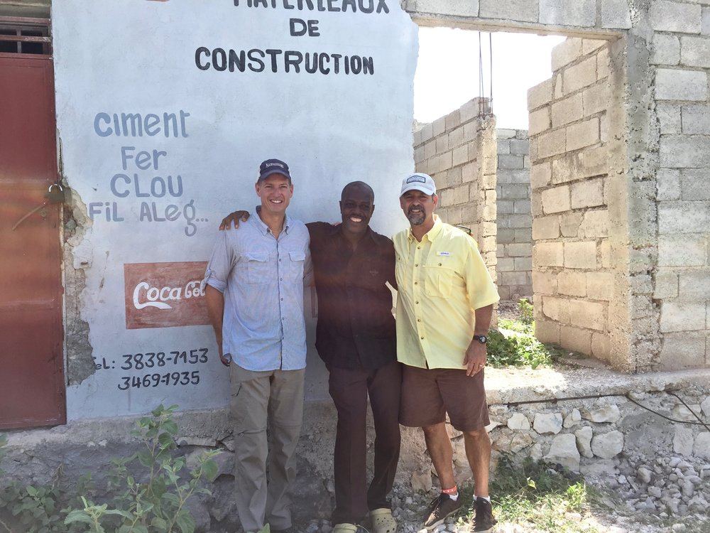 And of course, Todd and me with Pastor Noel, who leads the Green Church Network