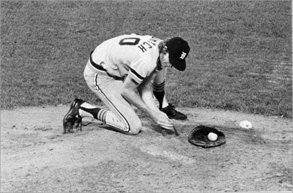 The Bird was also known for taking time to manicure the mound before each inning.