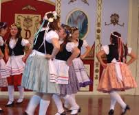 Performing European dances at Disneyland