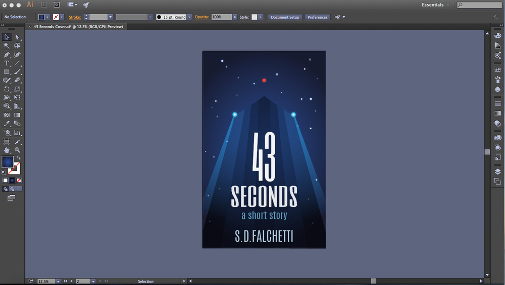The finished cover design in Illustrator