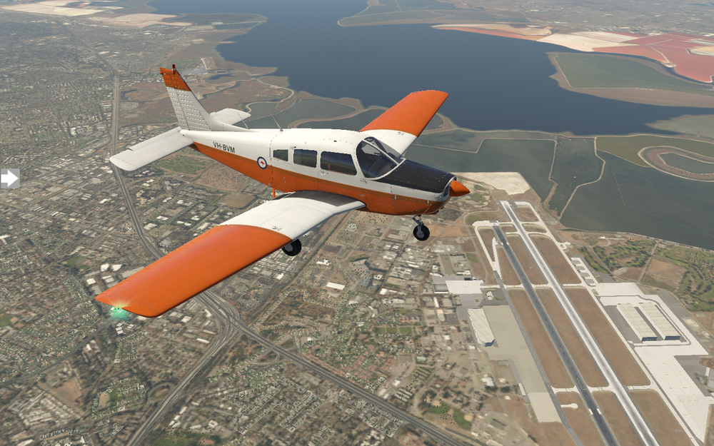 Flying the PA28 Piper Warrior II just north of San Jose