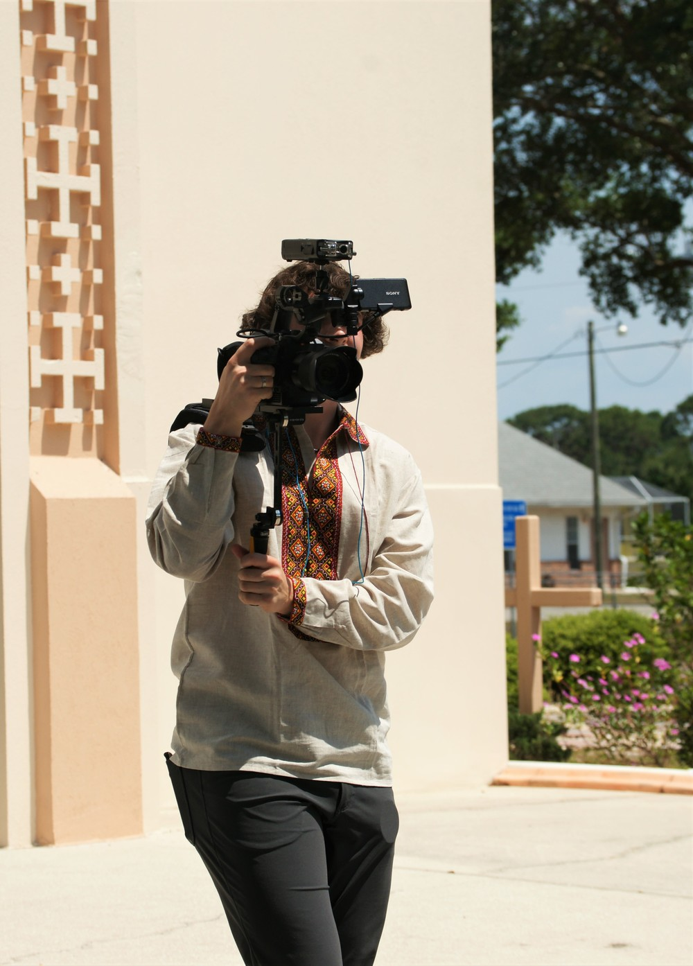 Matej  Silecky filming in North Port, Florida, May 2016