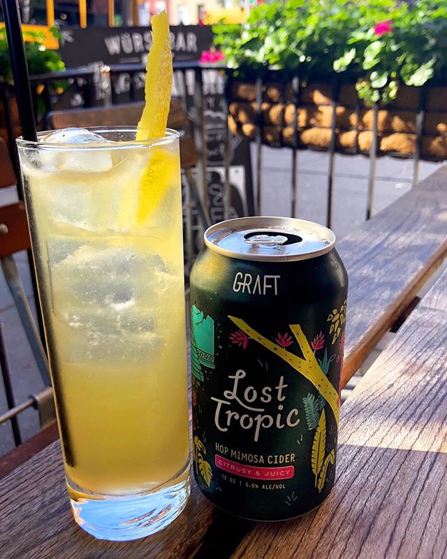 This months cider cocktail special features Graft Lost Tropic. You need to try this!