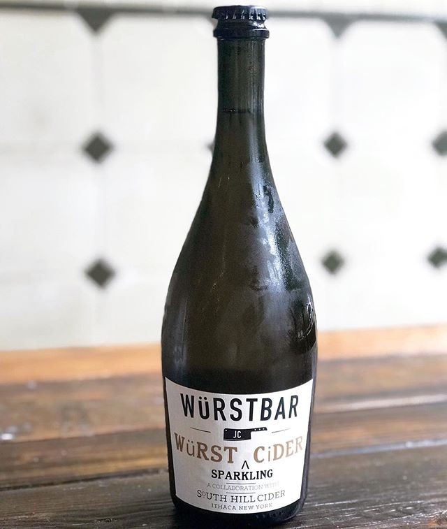 We'll be debuting our own house cider this Thursday for Würstbar's Second Anniversary.  We had the honor, and privilege to make this cider @southhillcider and it's absolutely incredible!