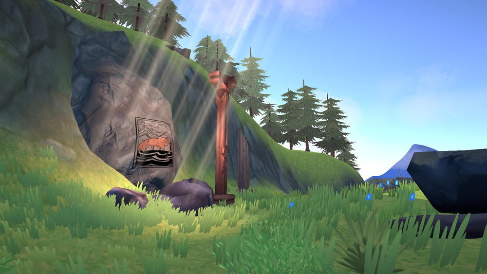 Screenshot from 'The Last Bison,' one of the opening scenes for the game.