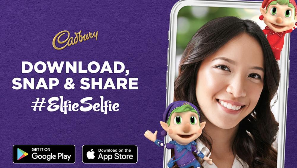 Cadbury 'Elfie Selfie' App ::  Promotional Christmas Selfie App for Cadbury  ::  Rigging, Animation