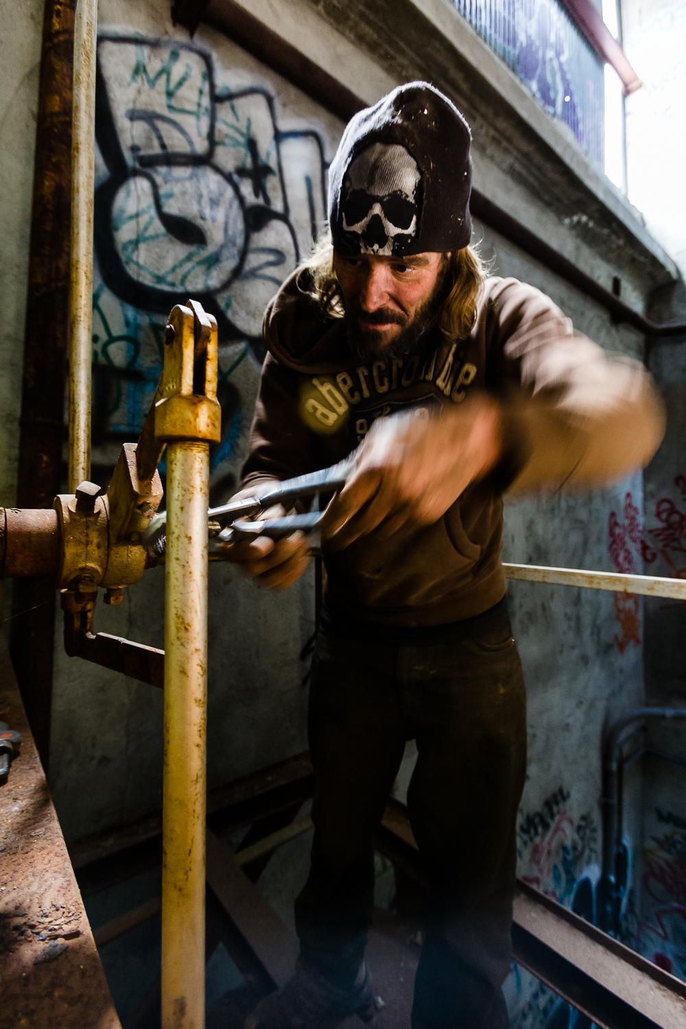Mike, a veteran scrapper has been doing this type of work for well over 10 years. When asked, he says it beats welfare. At current market prices for various metals he can make well more than welfare provides, and he doesn't have to play by the systems rules.