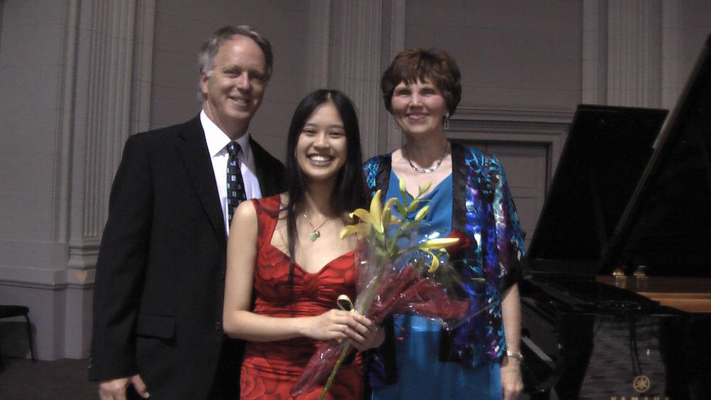 Professors Andrew Tunis and Sandra Webster  CMC National Finalists' Recital Tabaret Hall, University of Ottawa