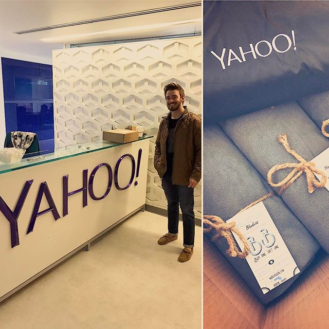 We hope the Boston Yahoo! employees are enjoying their Beantown Blankets!☀️Thank you for the support! @yahoo #beantownblankets #boston #homelessness #donation