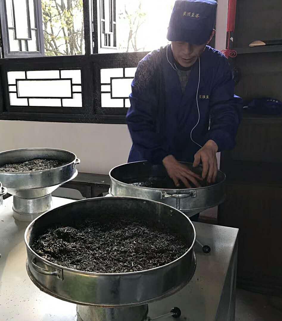 baking the tea leaves -
