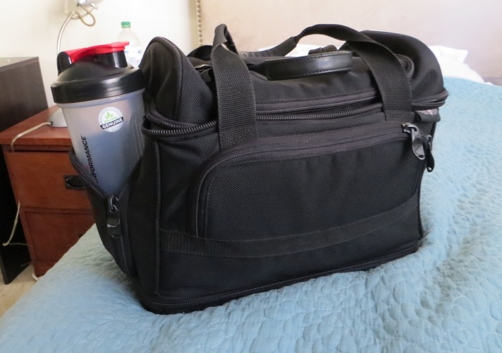A cooler bag - is a must for all vegetarian pilots and flight attendants. Without it, one is at the mercy of the road. Spoiler alert; The road shows no mercy!!!!!