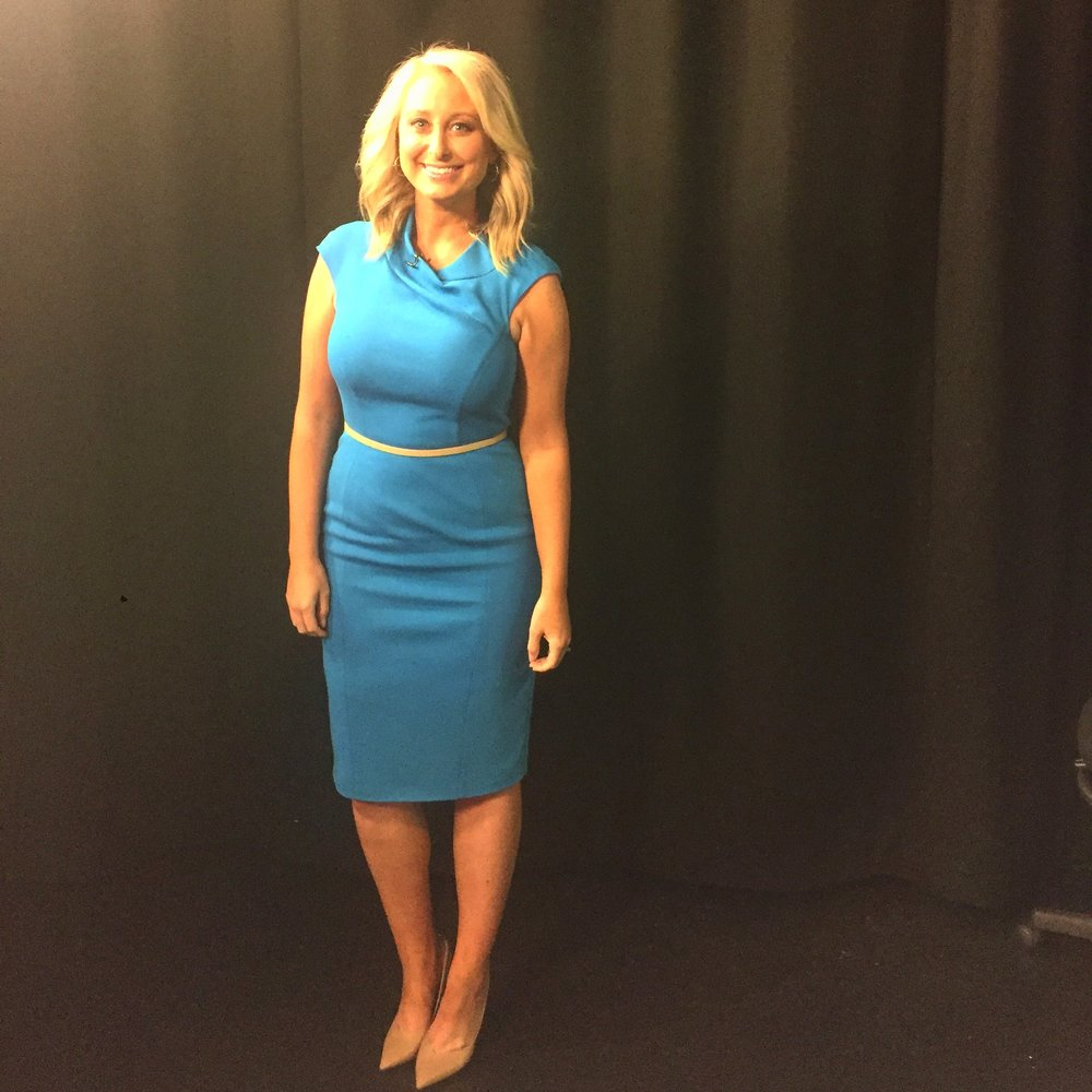 Dress:  Karen Millen blue pencil