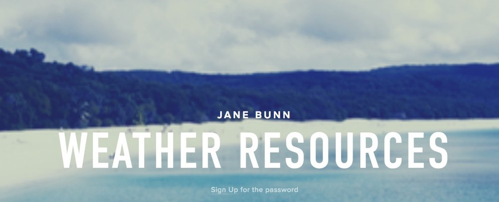 Jane Bunn Weather Resources