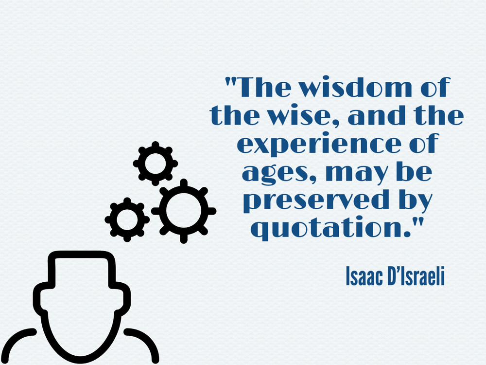 Isaac D'Israeli Quote Quotation