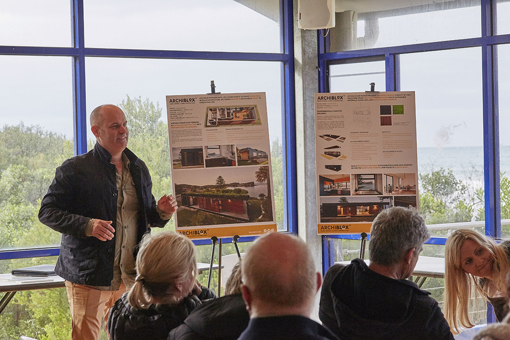 Bill McCorkell from  Archiblox  presented the Avalon House, a modular, pre-fabricated home.