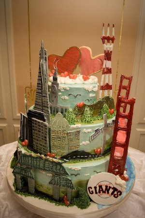 A San Francisco Wedding Cake Cake Coquette