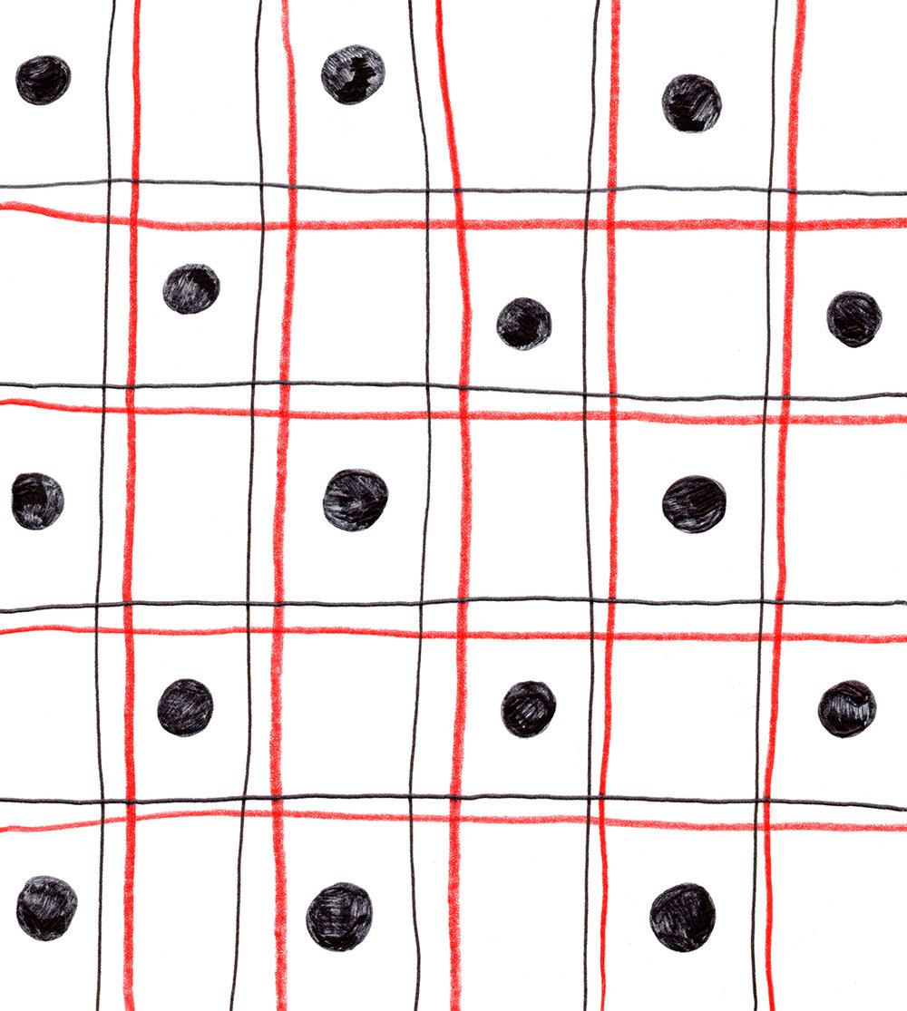 Plaid Polka Dot Study