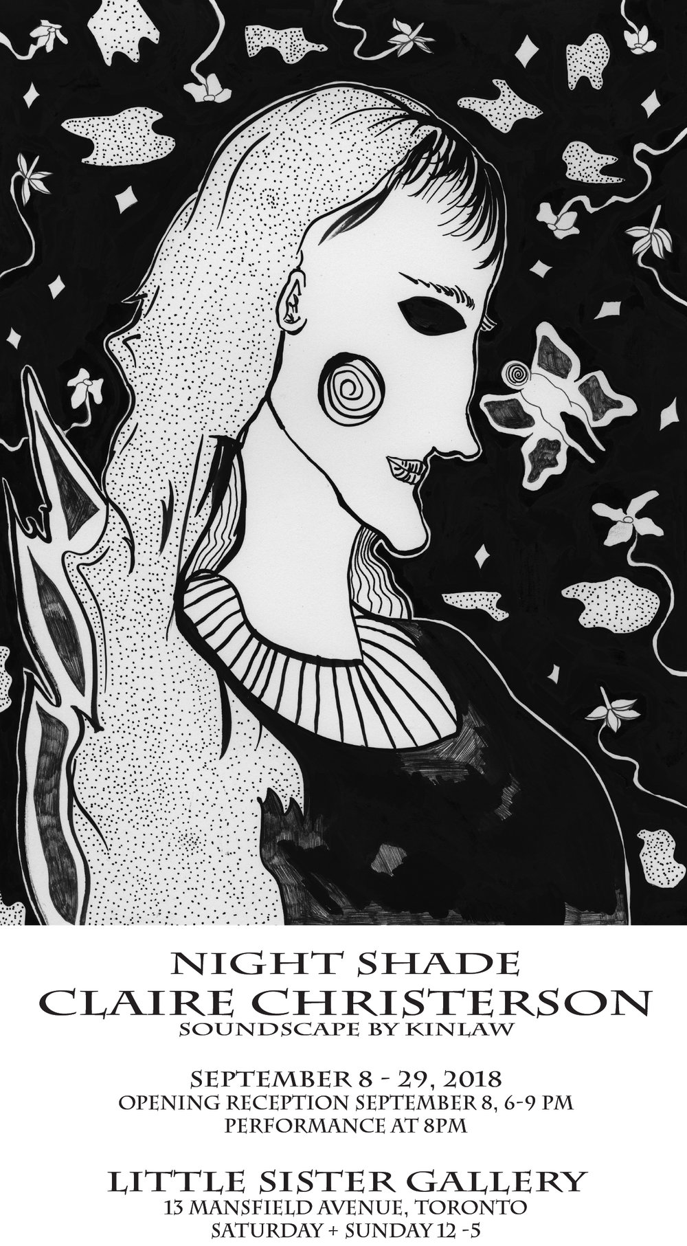 """Night Shade""  Solo show at Little Sister Gallery September 2018"