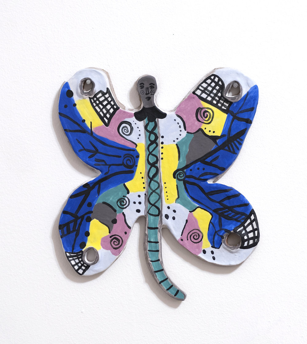 Butterfly Map  Ceramic, 2019