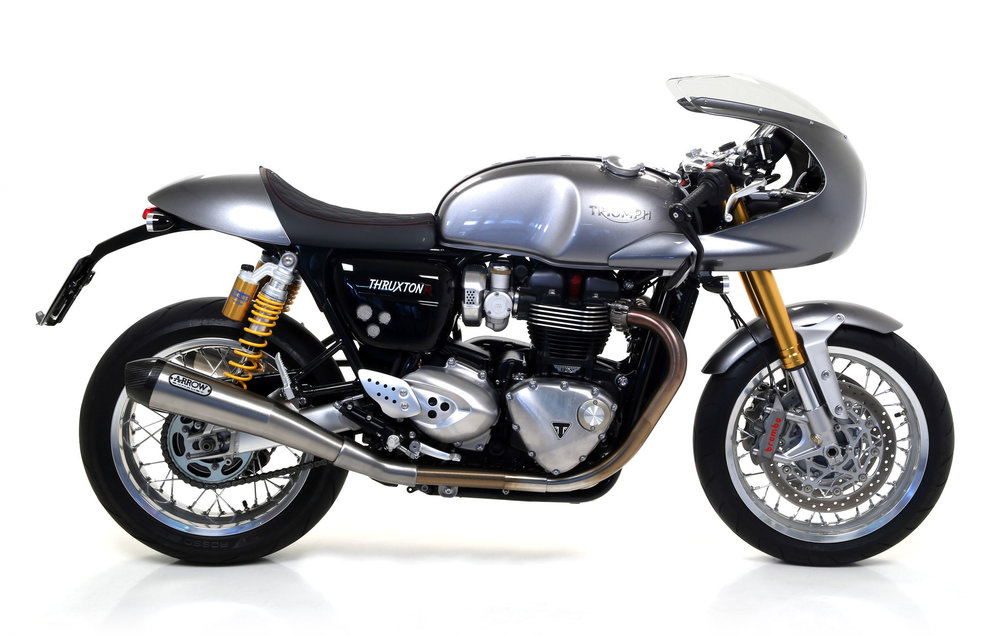 everything thruxton r arrow pro racing silencers